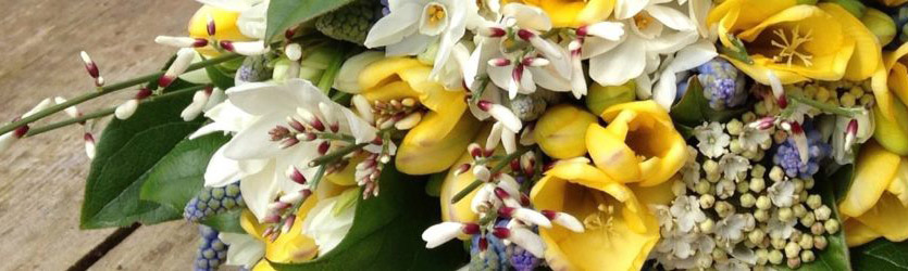 Желтые искусственные цветы